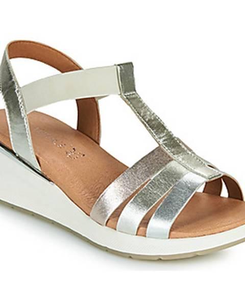 Strieborné sandále Caprice