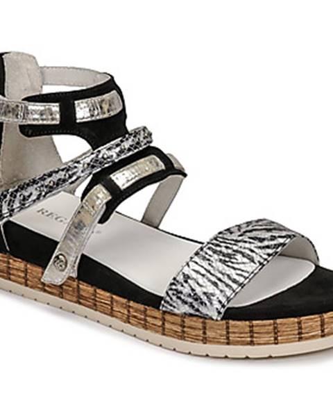 Čierne sandále Regard
