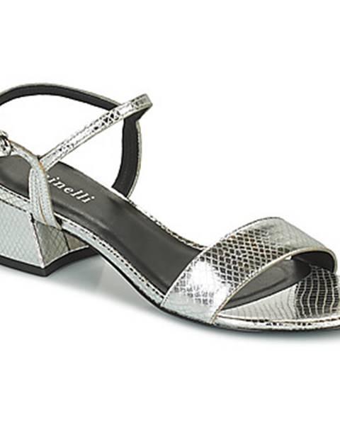 Strieborné sandále Minelli