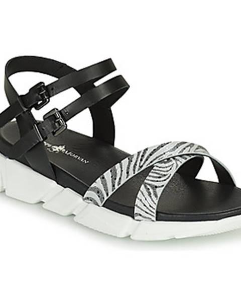 Čierne sandále Philippe Morvan