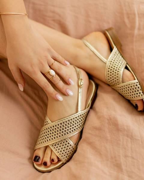 Zlaté sandále Céleste