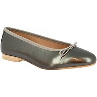 Balerínky/Babies Leonardo Shoes  6087 NAPPA ANTRACITE