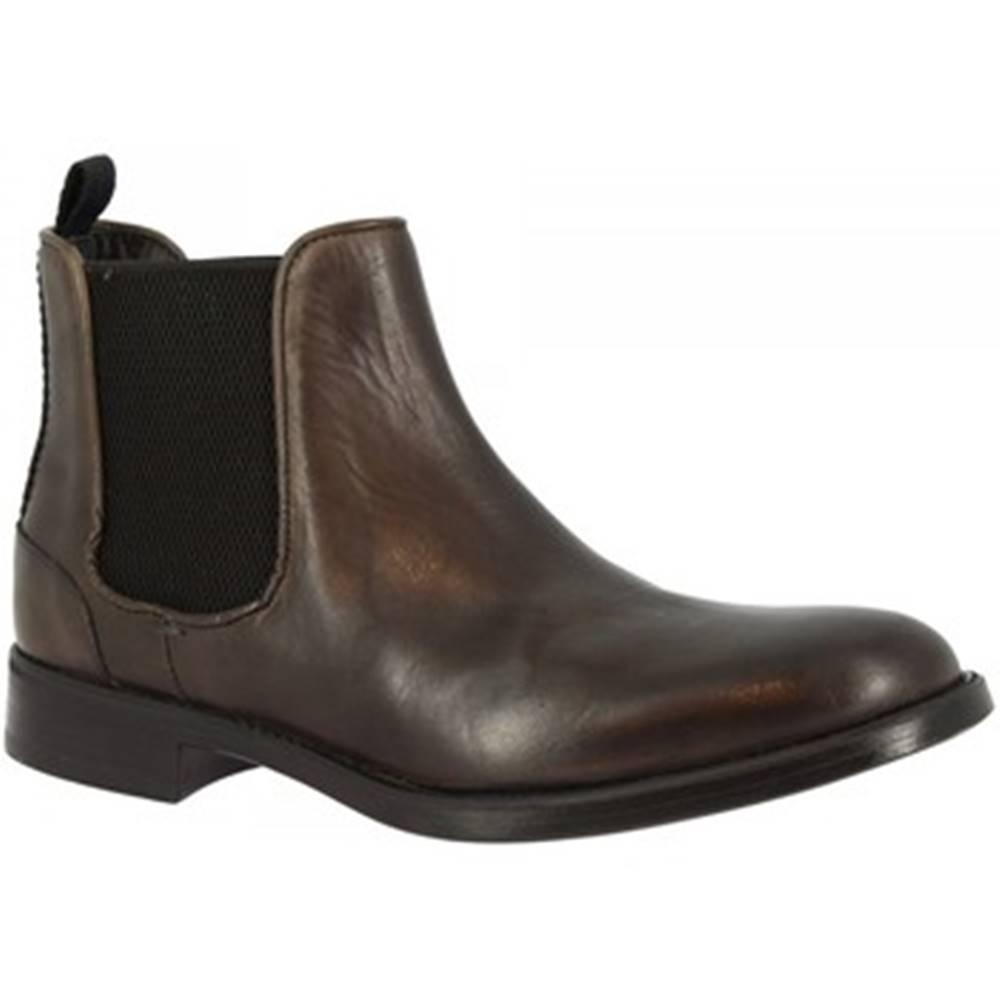 Leonardo Shoes Polokozačky Leonardo Shoes  248-42 CALF GRIGIO