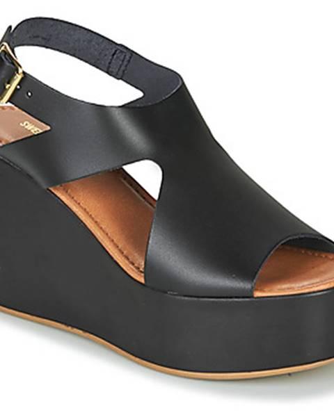 Čierne sandále Sweet Lemon