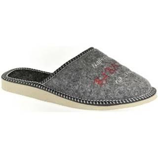 Papuče John-C  Dámske sivé papuče BABIČKA