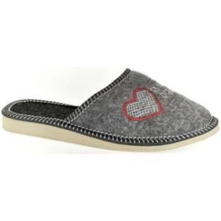 Papuče John-C  Dámske sivé papuče DCÉRA