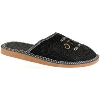 Papuče John-C  Pánske tmavo-sivé papuče NAJ OTEC