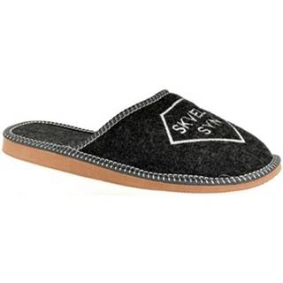 Papuče John-C  Pánske tmavo-sivé papuče SKVELÝ SYN