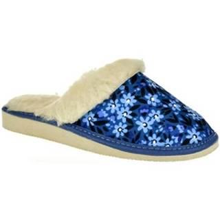 Papuče  Dámske modré papuče MARTA
