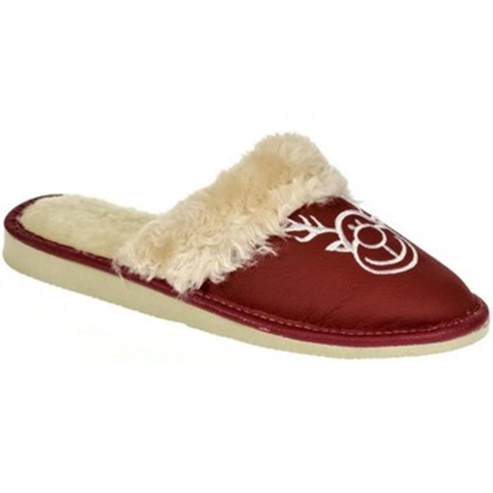 John-C Papuče  Dámske bordové papuče SOBIK