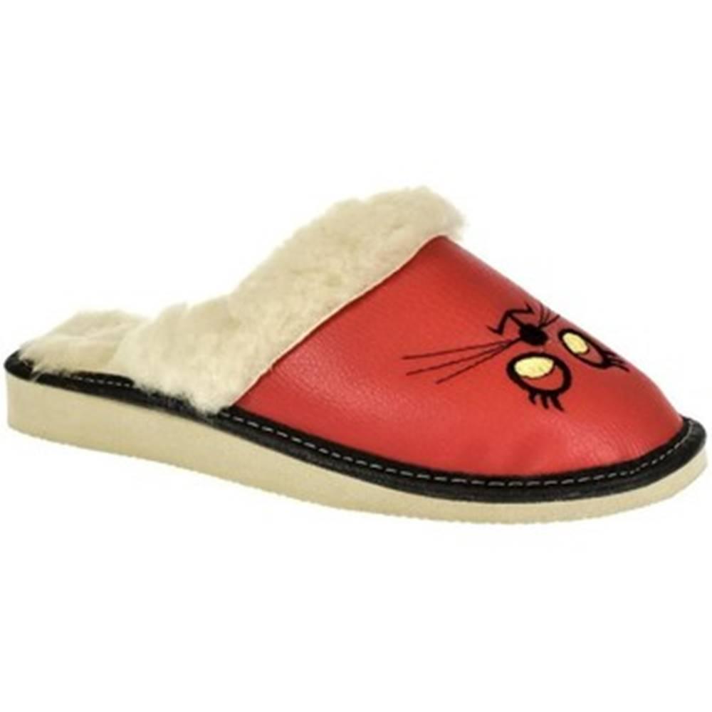 John-C Papuče  Dámske červené papuče KITTY