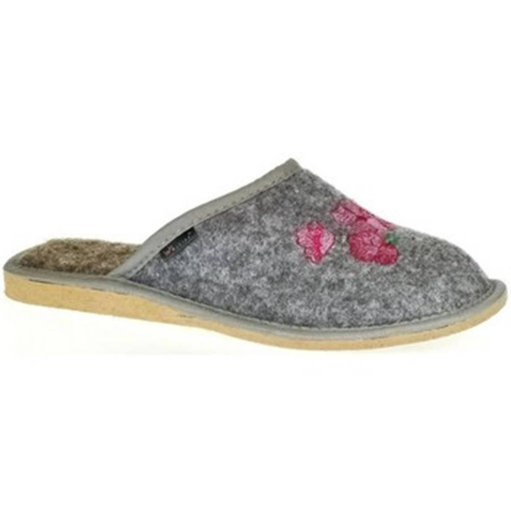 Just Mazzoni Papuče Just Mazzoni  Dámske sivé papuče PETRANA