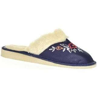 Papuče John-C  Dámske modré papuče SILVANA