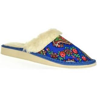 Papuče John-C  Dámske modré papuče VIERA