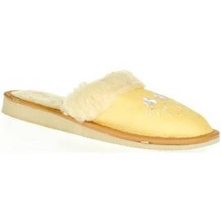 Papuče John-C  Dámske žlté papuče MATILDA