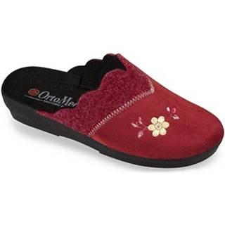 Papuče  Dámske bordové papuče  LIV