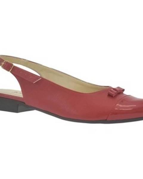 Červené sandále John-C