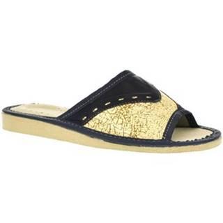 Papuče  Dámske tmavo-modré papuče SILKA