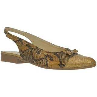 Sandále  Dámske zlato-čierne sandále EVELINE