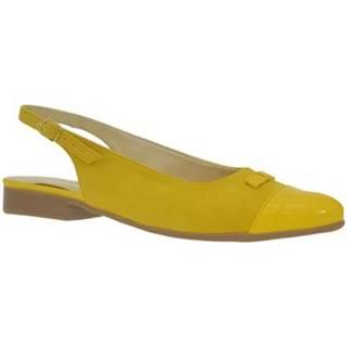 Sandále  Dámske žlté sandále EVELINE