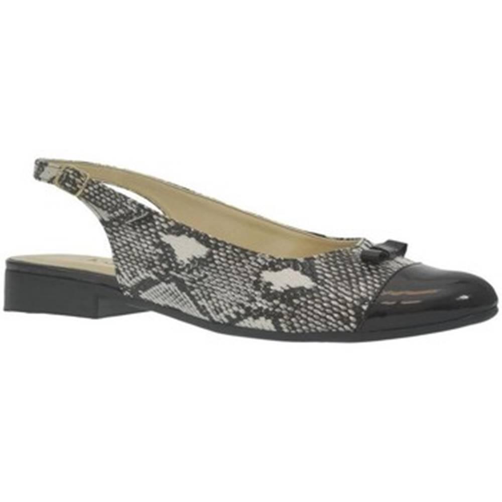John-C Sandále  Dámske čierne sandále EVELINE
