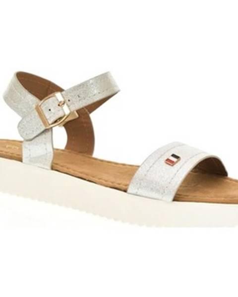 Strieborné sandále Comer