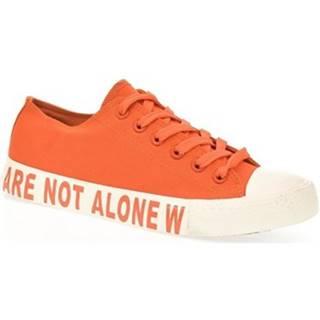 Nízke tenisky  Dámske oranžové tenisky ALONE
