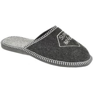 Papuče  Pánske sivé papuče SUPER BRÁCHA