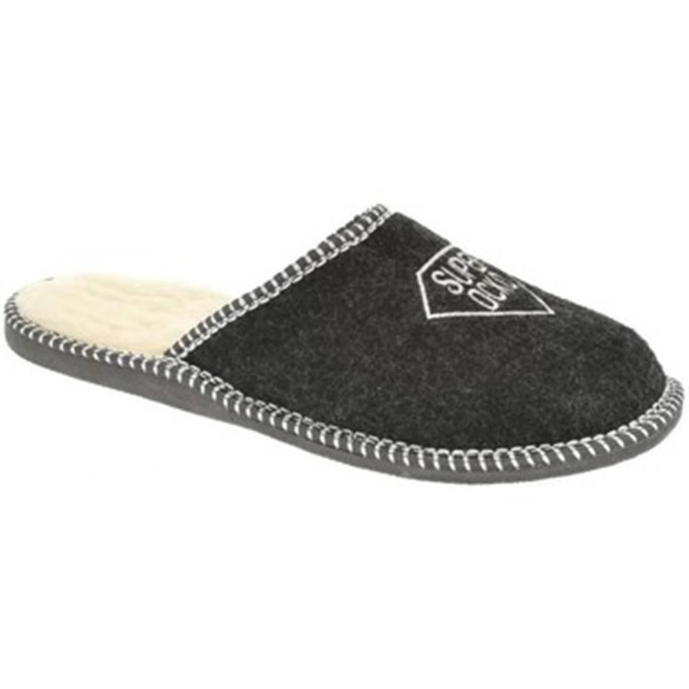 Bins Papuče  Pánske čierne papuče OCKO
