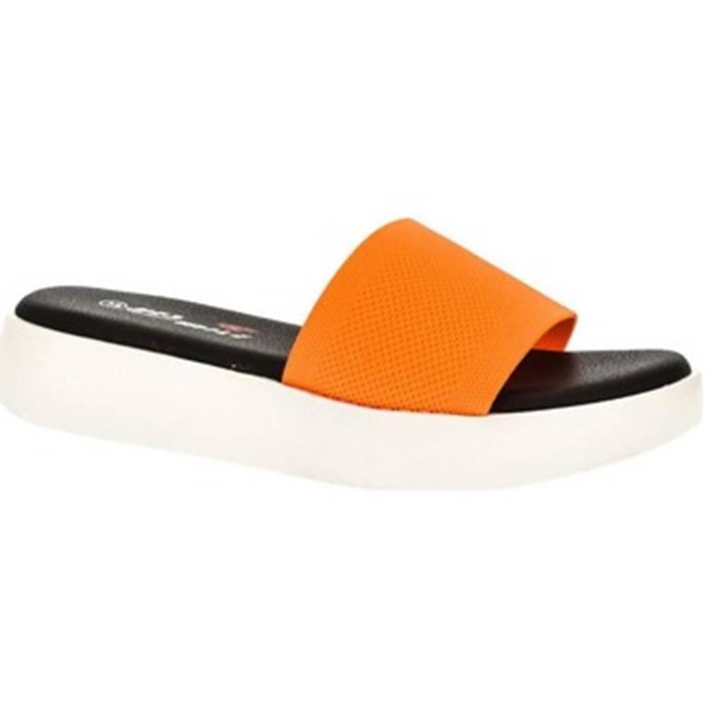 Yes Smile športové šľapky Yes Smile  Dámske oranžové šľapky MION
