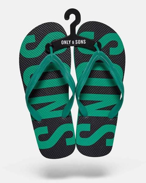 Zelené sandále only & sons