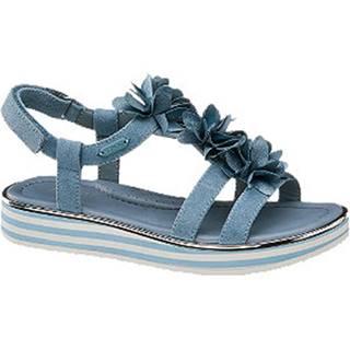 Modré sandále na suchý zips Esprit