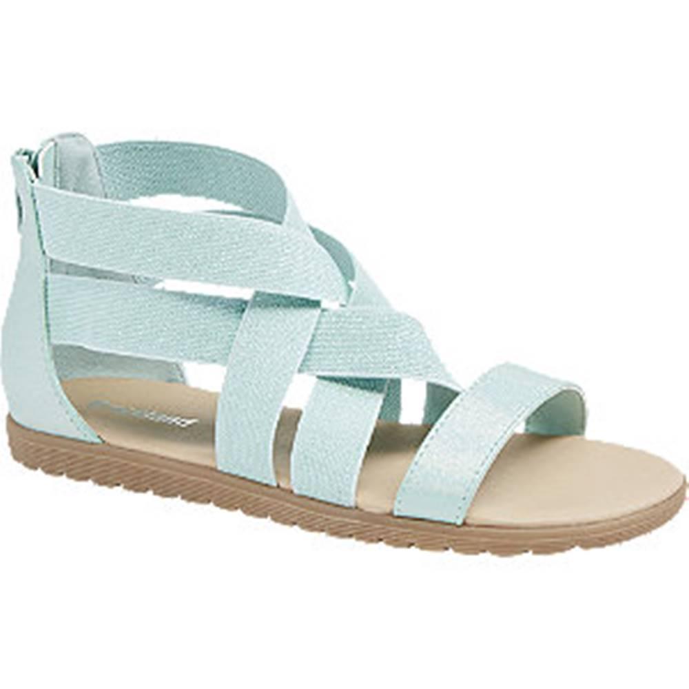 Graceland Mentolovozelené sandále Graceland