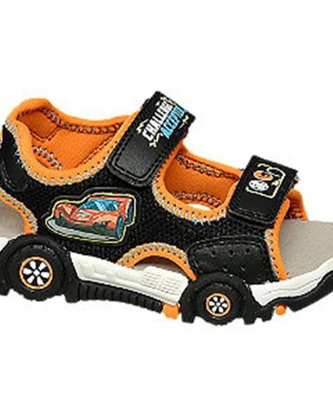 Oranžové sandále Hot Wheels