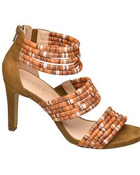 Oranžové sandále Catwalk