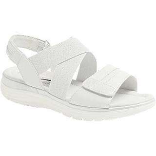 Biele kožené komfortné sandále Medicus