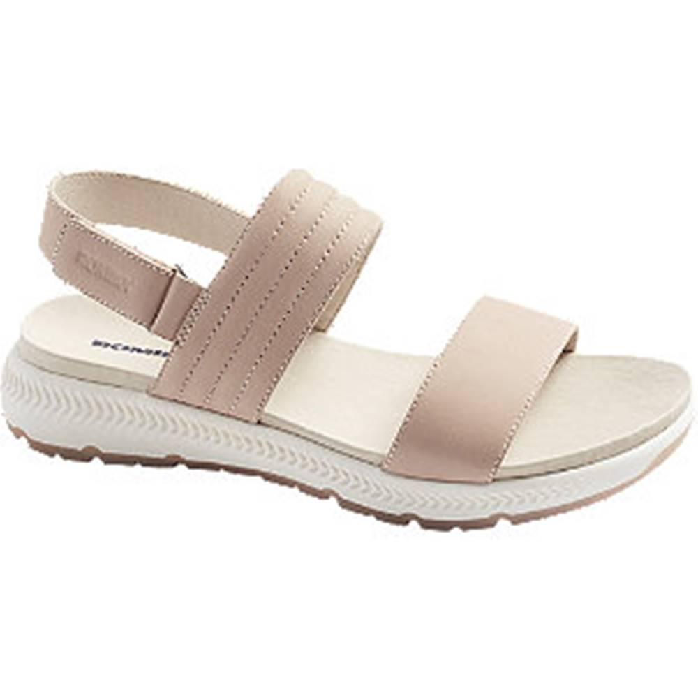 Romika Ružové kožené sandále Romika