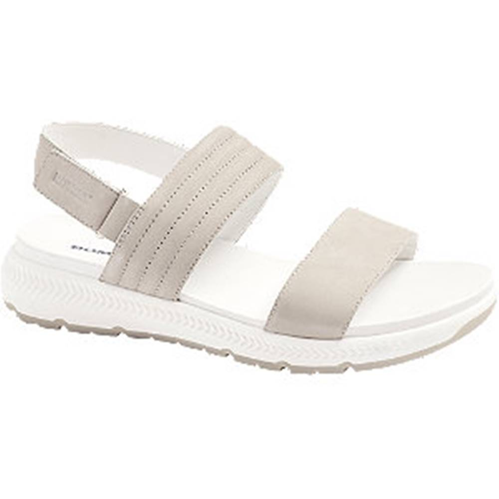 Romika Svetlosivé kožené komfortné sandále Romika