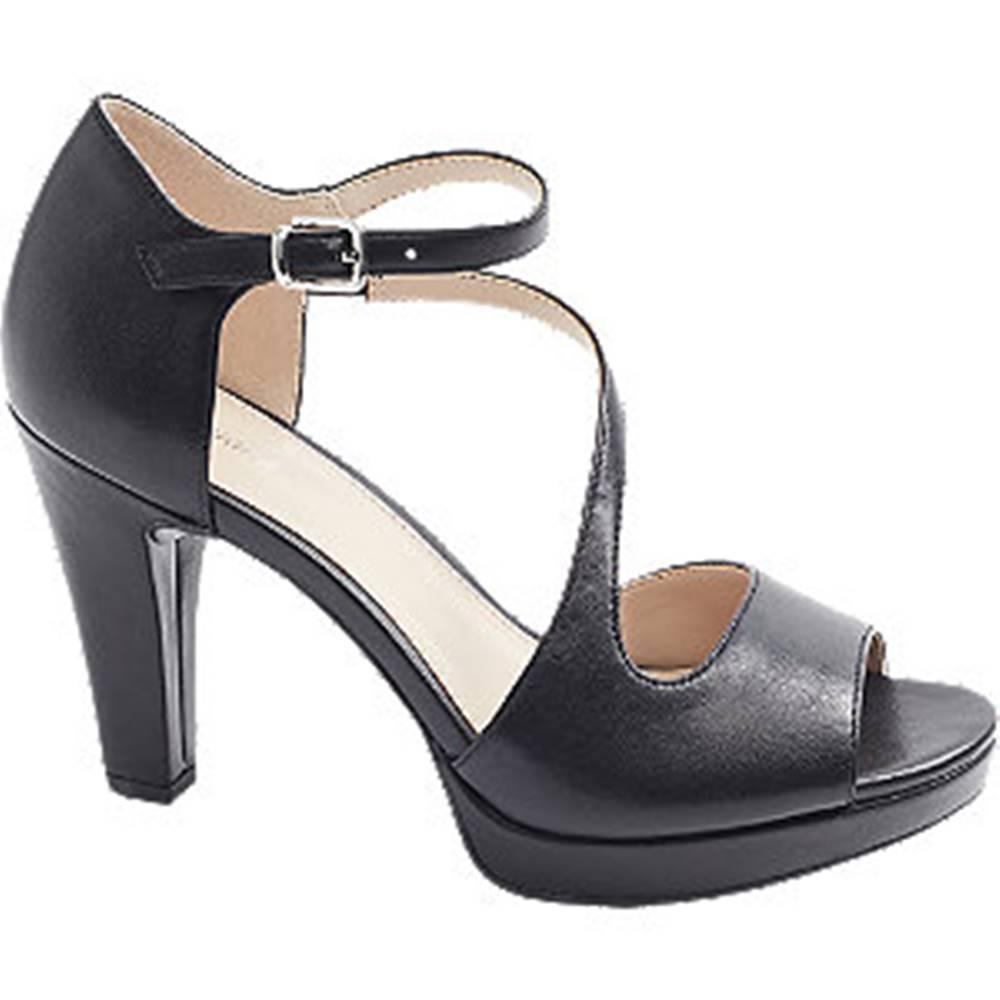 Graceland Čierne sandále na podpätku Graceland