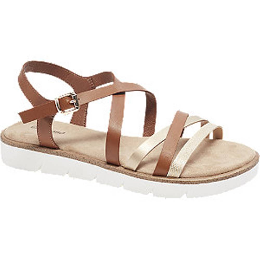 Graceland Hnedé sandále