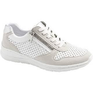 Bielo-strieborné komfortné tenisky Easy Street