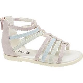 Ružovo-modro-zelené sandále Cupcake Couture