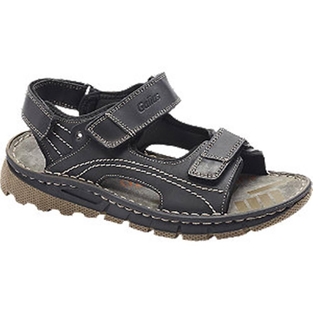 Gallus Čierne kožené komfortné sandále Gallus