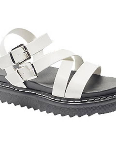 Biele sandále Catwalk