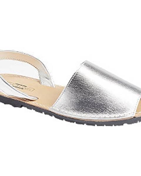 Strieborné sandále 5th Avenue