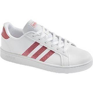 Biele tenisky Adidas Grand Court K
