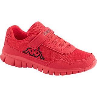 Červené tenisky na suchý zips Kappa Follow Bc K