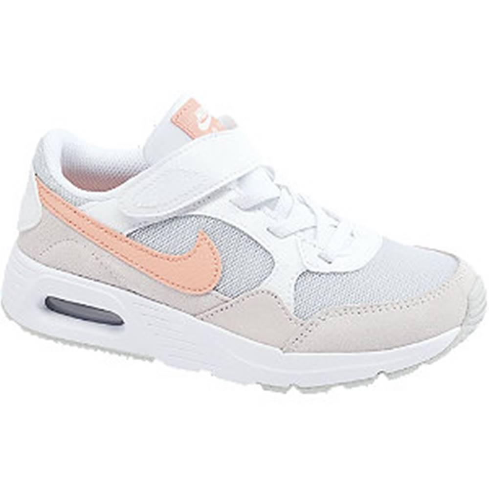 Nike Bielo-fialové tenisky na suchý zips Nike Air Max Sc