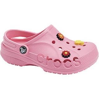 Ružové plážové sandále