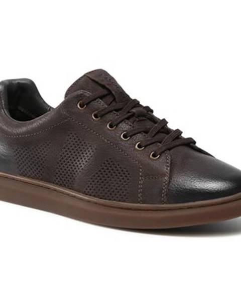 Tmavohnedé topánky Lasocki